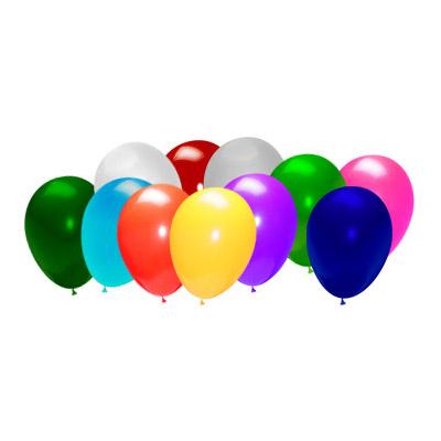 Įvairiaspalviai balionai su heliu (28 cm)